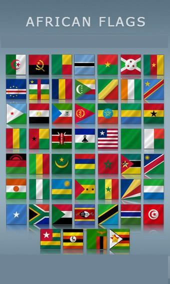 Drapeaux des Pays Africains