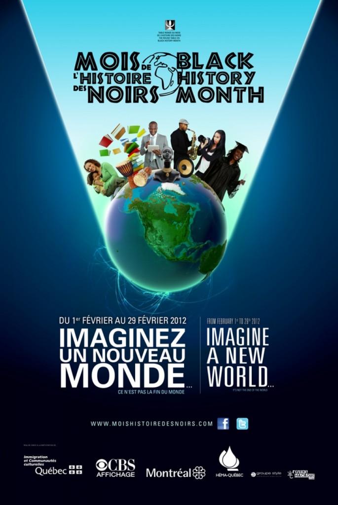 Affiche le mois de l'histoire des Noirs